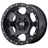 XD Series by KMC Wheels XD131 RG1 Satin Black Wheel (17x9/8x165.1, -12mm Offset)