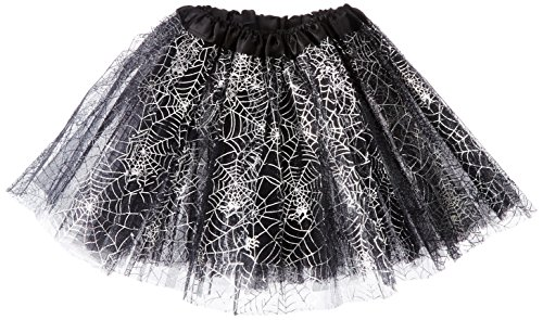 Rush Dance Ballerina Recital Halloween Black & Silver Spider Webs Costume (Spider Dress Costume)
