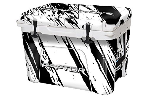USA Tuff Thickest & Toughest Wrap 24Mil Cooler Decal Skin for YETI 45QT Tundra Full Kit - Ford White Raptor by USA Tuff