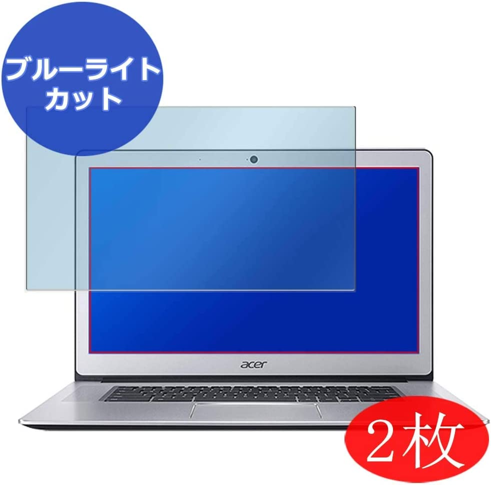 """【2 Pack】 Synvy Anti Blue Light Screen Protector for Acer Chromebook 15 CB515-1HT 15.6"""" Screen Film Protective Protectors [Not Tempered Glass]"""
