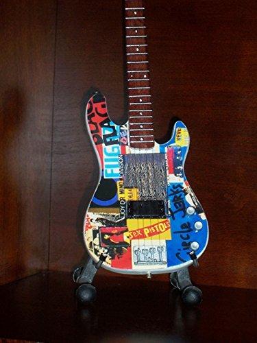 Mini PUNK BASS Guitar RED HOT CHILI PEPPERS FLEA Display Statuette GIFT