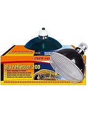 Sera Reptil - Lámpara de Techo con Pinza (Aluminio Reflector, 15 o 20 cm, para terrarios y Reptiles, con Casquillo de cerámica E 27 Resistente al Calor y Rejilla Protectora)