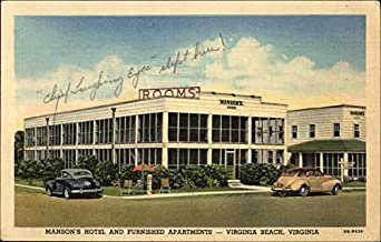 Review Manson's Hotel and Furnished Apartments-Virginia Beach, Virginia Original Vintage Postcard