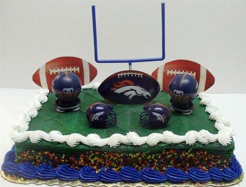 Awesome Nfl Football Denver Broncos Birthday Cake Topper Set Featuring Birthday Cards Printable Trancafe Filternl