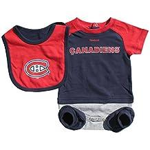 Montreal Canadiens Newborn Lil Jersey 3-Piece Creeper, Bib, & Bootie Set