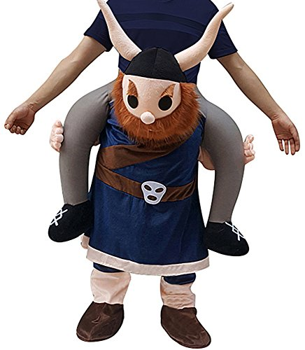 Creative Apparel Viking Funny Piggyback, Ride-on Shoulder, Carry Me Costume for Adults, One Size -