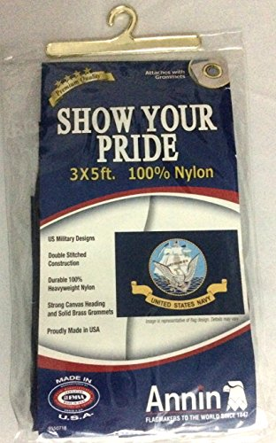 NAVY 3'X5' NYLON OUTDOOR FLAG
