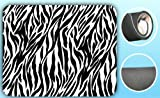 zebra office supplies - Zebra Print Black/White Soft Padded Mouse Pad