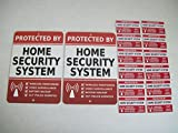 Home Security 2pcs Yard Signs and 12pcs Window Stickers Signs Alarm System