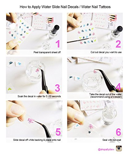 how to use water transfer nails