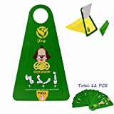 SUMCOO Pet & Dog Waste Bags,Earth-Friendly Pet & Dog Poop Bags, Sanitary Pickup Bags And Remover For Pet Outdoor,12 pcs