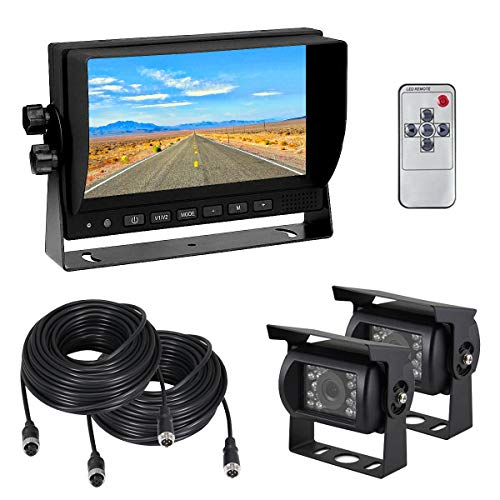 "Backup Camera System Kit, Esky Dual Backup Cameras and 7"" TF"