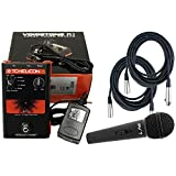 TC Helicon R1 Vocal Tuned Reverb Effect Pedal w/Power Supply, 20' XLR Mic Cables, and Dynamic Microphone
