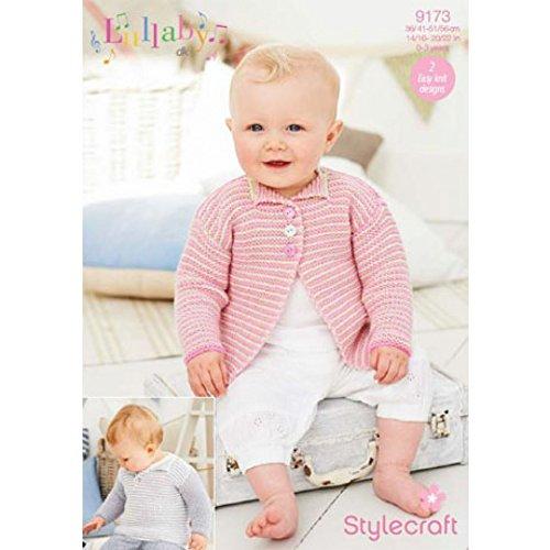 Stylecraft Baby Cardigan & Sweater Lullaby Knitting Pattern 9173 DK