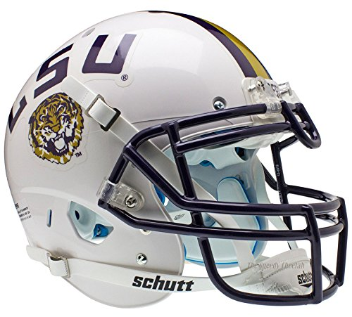 LSU Tigers White Officially Licensed XP Authentic Football Helmet by Schutt