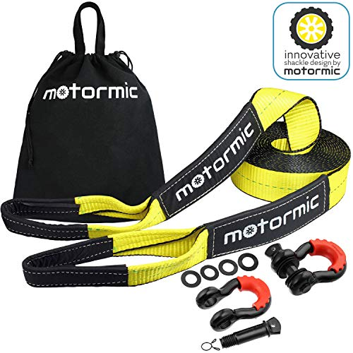 Motormic Tow Strap Recovery Kit - 30 ft x 3 in...