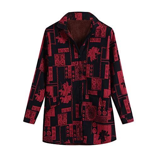 HHmei Medical Lab Coats | Women Cotton Linen Winter Warm Plus Velvet Coat Folk-Custom Print Outcoat Jacket/lab Winter Faux Fur red Trench Dress Black Wool Pea Bubble Plaid Long rain with Hood