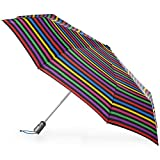 totes Titan Automatic Open Close Windproof & Water-Resistant Foldable Umbrella, Hue Stripe
