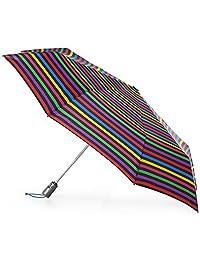 totes Titan Large Auto Open Close NeverWet Umbrella, Hue Stripe