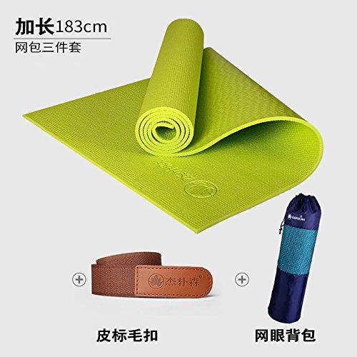 So vert 8Mm( Beginner) YOOMAT Le débutant Yoga Mat épais 8Mm Encore Plus évasé et Long Yoga Femme Fitness Mat Mat Anti-Slip168939