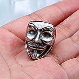 Stainless Steel vendetta Mask Ring