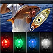 TIFALEX LED Fishing Lures Kit, Deep Drop Fishing Lights LED Fishing Spoons Underwater Flasher Lights Trolling,