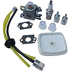 KIPA Carburetor Fuel Filter Air Filter Fuel Line Spark plug kit for Zama C1U-K42B C1U-K42A C1U-K42 Echo PB2100 Blower 12520020563 12520020564 12520020562 12520020561 12520020560