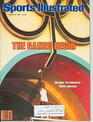 Sports Illustrated (August 6, 1984) The Games Begin - Olympic Torchbearer Rafer Johnson