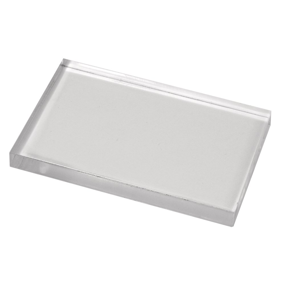 Rayher Hobby 2860600 Acryl-Stempelblock, 5 x 8 cm, 8 mm stark