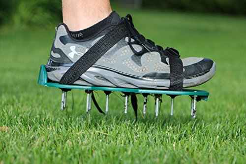 Lawn Aerator: Strong Lawn Spikes/ Lawn Aerator Shoes to Quickly Open Up The Soil In Your Garden by Careful Gardener