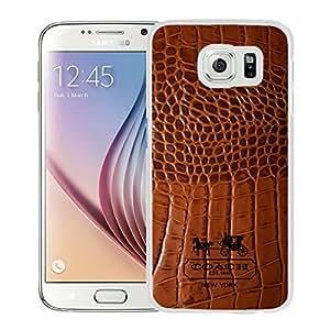 Beautiful Coach 83 White Samsung Galaxy S6 Screen Cellphone Case Handmade and Fashion Design