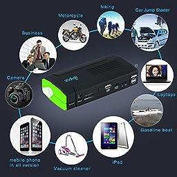 Indigi NEW Heavy Duty Portable Power Bank & Emergency Car Jump Starter Battery Booster