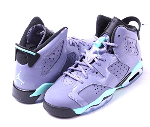 Nike Air Jordan 6 Retro GG, Zapatillas de Running para Niñas Rosa / Negro (Iron Purple / Bleached Turq-Blck)