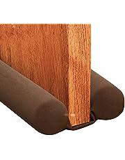 TOPJKLI Twin Door Draft Stopper, Door Breeze Blocker Under Door, Weather Stripping Window Breeze Blocker Adjustable Door Sweeps 34inch, for All Doors