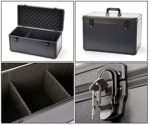 Kfdzsw Tool Storage Box Aluminum alloy toolbox Impact resistance safety box instrument case suitcase fish rod model case With shockproof sponge (Color : 330x235x95mm) 680x320x170mm