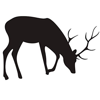 Brilliant Amazon Com Homefind Reindeer Vinyl Decals Deer Wall Download Free Architecture Designs Scobabritishbridgeorg