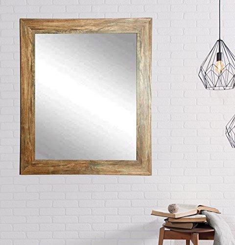 BrandtWorks Barn Wood Vanity Wall Mirror, 32 x 36, Blonde/Brown