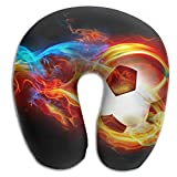 U-Shaped Pillow Neck Shoulder Body Care Cool Soccer With Fire Health Soft U-Pillow For Home Travel Flight Unisex Supportive Sleeping