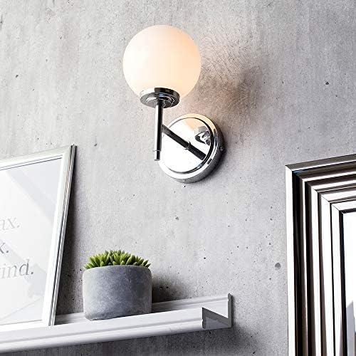 Litecraft Preston Globe Wall Light Bathroom Lighting in Chrome