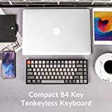 Keychron K2 RGB Wireless Mechanical Gaming Keyboard with Gateron Brown Switch/USB Wired/Anti Ghosting /84 Key N-Key Rollover, Bluetooth Computer Keyboard for Mac Windows PC Gamer- Version 2