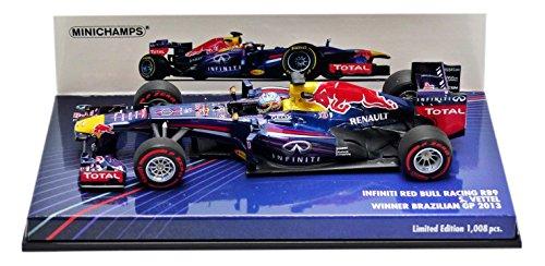Minichamps 410131201 scala 1  43   2013 rosso Bull RB9 S. Vettel Winner Brazilian GP Die cast Model