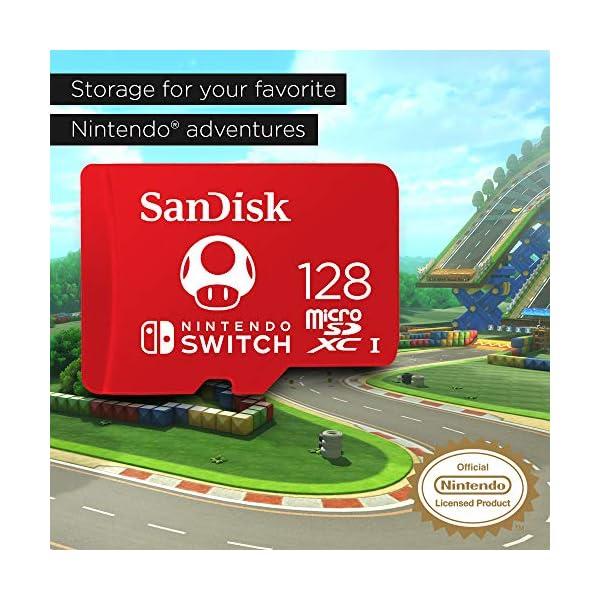 SanDisk 128GB microSDXC UHS-I-Memory-Card for Nintendo-Switch - SDSQXAO-128G-GNCZN 3