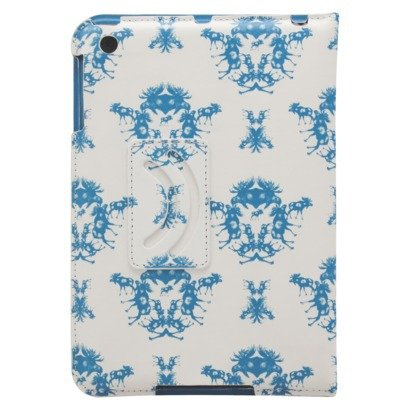 (Moose Toile Ipad Mini Case - White/Blue-Bludot)