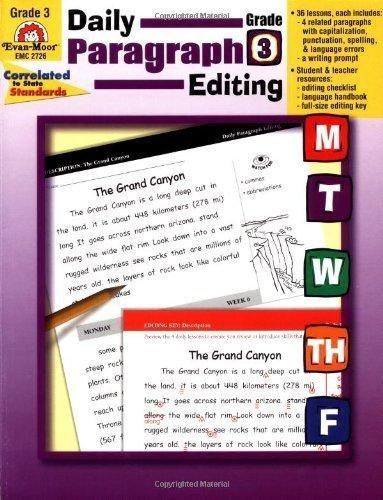 Daily Paragraph Editing, Grade 3 by Linde, Barbara (2004) Paperback