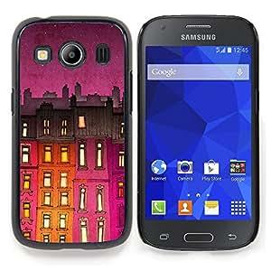Stuss Case / Funda Carcasa protectora - Edificio de la noche púrpura Luces - Samsung Galaxy Ace Style LTE/ G357