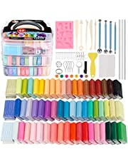 Polymer Clay Starter Kit, 1oz/Block Oven Bake Modeling Clay, Moderate Hardness, CiaraQ CPSC Conformed Non-Toxic Molding DIY Clay Air Dry Assorted Colorful Clay with Sculpting Tools for Kids, Artists