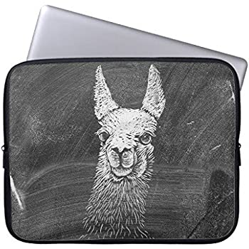 Eratio Black White Vintage Funny Llama Animal Art Drawing Neoprene Laptop Sleeve 10 Inch Macbook Air Case Macbook Pro Sleeve and 10 Inch Laptop Bag