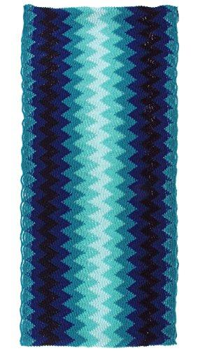 Blue Zig Zag Scarf - 2