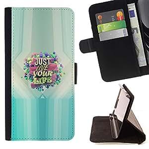 Momo Phone Case / Flip Funda de Cuero Case Cover - SÓLO VIVE TU VIDA - LG G2 D800