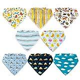 Baby Bibs,8 Packs Baby Bandana Drool Bibs, Unisex